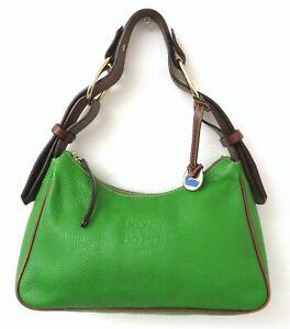Dooney & Bourke Green Pebble Leather Hobo Bag Purse