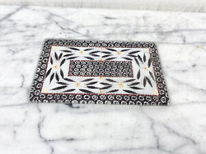 Tempations Glass Tempered Trivet Cutting Board Old World By Tara Black Red White