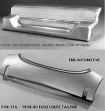 Ford 1939-1940 Coupe Tailpan Tail Pan With Bumper Slots w/ Toolbox #31S/59 EMS