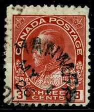 Canada #109c(12) 1923 3 cent carmine KING GEORGE V HANMER ONTARIO SOTN
