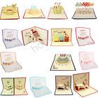 3D Luxury Handmade Pop Up Greeting Card Happy Birthday Beauty Cute Luck