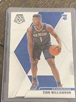 ZION WILLIAMSON 2019-20 PANINI MOSAIC ROOKIE RC #209 PELICANS 🔥🔥