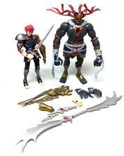 "THUNDERCATS Modern Retro Classic toys 6"" figures set  LIONO & MUMMRA, not boxed"