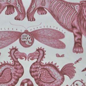 Extinct wallpaper by Designer Emma J Shipley Animalia | Off White & Magenta