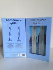 NEW! DOLCE & GABBANA D&G 2-PC LIGHT BLUE TRAVEL PERFUME FRAGRANCE SPRAY SET $58