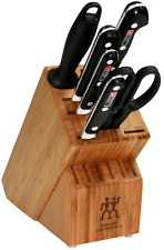 "ZWILLING J.A. Henckels Professional ""S"" 7 Piece Knife Block Set 35666-000 NEW"