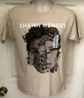 Shawn Mendes Official T-Shirt NWT From Hot Topic Size Small Tan