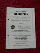 BOXING PROGRAMME - DAVE GRIFFITHS V MARK SIMPSON  1985