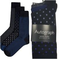 Fa M ou S High St Store Men's 3 Pairs Modal with Pima Cotton Blend Socks RRP £15