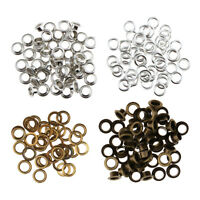100pcs Mixed Metal Grommets Eyelets Buckle With Washer For Leathercraft 11mm