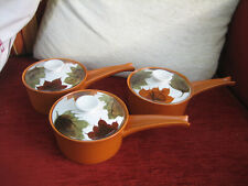 SET OF THREE VINTAGE LIDDED SOUP BOWLS FROM OVEN KING OF ITALY
