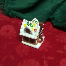 Gingerbread House Votive Candle Holder Ceramic Christmas Vintage Collectible
