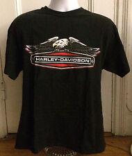 vtg Harley-Davidson Baton Rough, LA Eagle Logo Black T Shirt, Men's L, USA