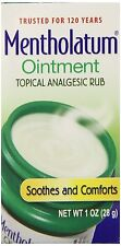 MENTHOLATUM OINTMENT/TOPICAL ANALGESIC/AROMATIC VAPORS 1 OZ