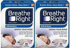 60 BREATHE RIGHT TAN Nasal Strips Large Size Nose Band Stop Snoring Breath NEW