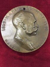 1939 Commemorative Bronze Medal HJ Heinz Co 70th Anniversary Founding 75mm