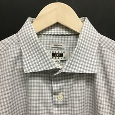 Mens 18 34-35 JOSEPH ABBOUD SpreadCollar Dress Shirt -SUPER- 30c