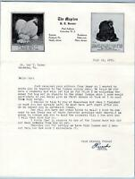 1951 COLUMBIA NJ THE MAPLES HERSTER CHICKENS COCHIN BANTAM POULTRY LETTERHEAD