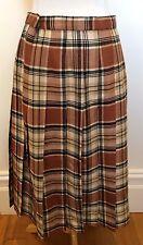 EDINBURGH WOOLLEN MILL Vintage Brown White Black Plaid Tartan Kilt Skirt 14