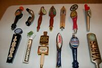 Collection various beer taps/handles, Peroni, Yards, Matilda, Starr Hill,Ithaca