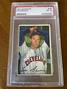 1952 Bowman Lou Brissie PSA 5 Excellent