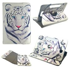 Housse Etui Tablette Thomson Teo 10 - Rotative 360 ° - 10.1 Pouces - Tigre Blanc