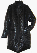 ~ROAMAN'S WOMENS POLYESTER COAT BLACK QUILTED POLYESTER COAT JACKET SZ 2X
