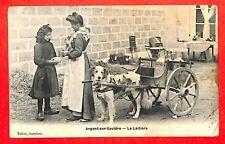 """ARGENT-SUR-SAULDRE (18) CPA """" VOITURE A CHIEN / LAITIERE """" EDITION TALBOT 1906"""