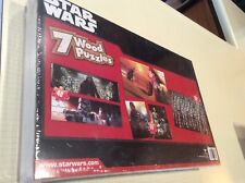 Star Wars  Wood Puzzle 7 Pack with Storage Box Force Awakens-SEALED