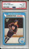 1979 '79 Topps Hockey #18 Wayne Gretzky Rookie Card RC Graded PSA Nm Mint 8 OC