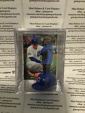 Anthony Rizzo Chicago Cubs Mini Helmet Card Display Case Collectible Auto WS