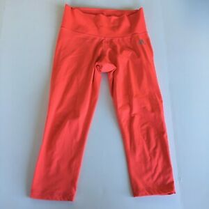 Adidas mid rise climalite ankle leggings salmon Womens Size S Athletic Yoga