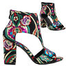 Botas de mujer bordado botines botines bajos tapicería talón grueso nuevo FB6820