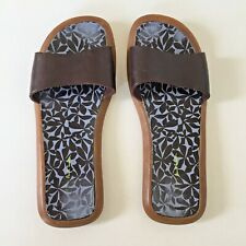 PS PAUL SMITH BROWN LEATHER SLIDES / SANDALS UK6 CHESTNUT EXC.COND