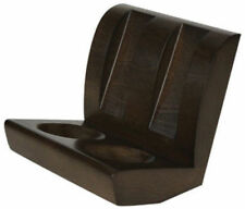 Walnut Finish Tobacco Smoking Pipe Chair Style Wooden Stand for 2 Pipes - # 7706
