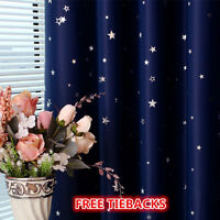Blockout Eyelet Curtain Country Style Leaves Bedroom Study Lounge 300cm x 230cm