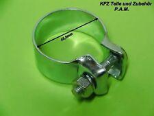 2x Auspuffschellen 45,5mm Rohrschelle Rohrverbinder Schelle verzinkt universal