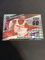Russell Westbrook 2019-20 Panini Mosaic Basketball Give And Go SILVER PRIZM #11