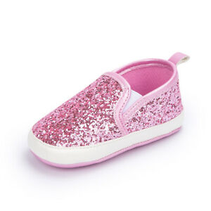 Birthday Gift Newborn Baby Girl Crib Shoes Infant Toddler Paillette Shoes 0-18 M