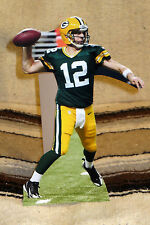 "Aaron Rogers Green Bay Packers Quarterback NFL Tabletop Display Standee 10.5"" T"