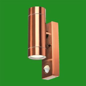 4x PIR Copper Up & Down Outdoor IP44 Motion Sensor Security Wall Light