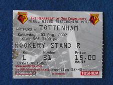 Watford v Tottenham Hotspur - 3/8/02 - Billete-Nigel Gibbs testimonios