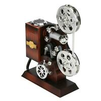 Retro Wood Metal Projector Model Music Box Antique Musical Jewelry Box Gift #JT1