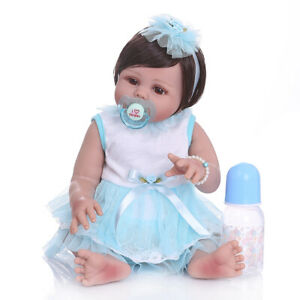 19inch Lifelike Newborn Baby Dolls Full Body Soft Silicone Reborn Doll Cute Toy