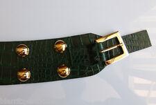 CEINTURE DOLCE GABBANA  à boucle cuir façon crocodile vert  T 90/100 NEUVE