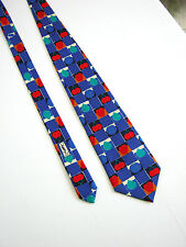 YVES SAINT LAURENT Paris CRAVATTA Tie NUOVA NEW Originale 100% SETA SILK