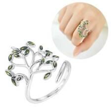 925 Silver Wedding Engagement Ring Peridot Rings Jewelry Christmas Women Gift