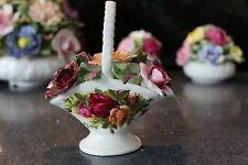 Royal Albert Old Country Roses Basket Of Flowers, Flower Posy ENGLAND Backstamp