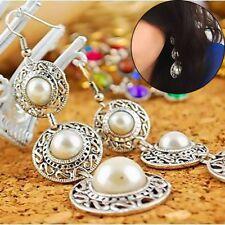 Tassel Ethnic Style Long Chain Hook Earrings Drop Dangle Simulated Pearl