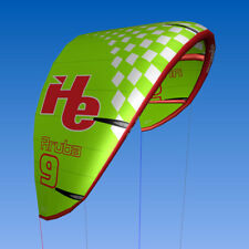 New 9m2, flyHelium Aruba kiteboarding Kite (Green). Ideal for all levels.